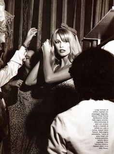 Claudia Schiffer by Michel Comte for Vogue Italia March 1995