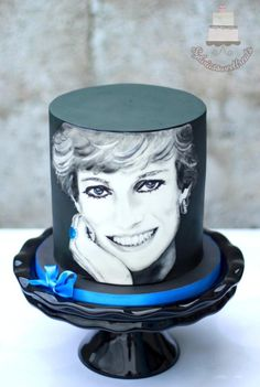 CPC Princess Diana Collaboration - cake by Sylwia Beautiful Cakes, Amazing Cakes, 4th Birthday Cakes, Hand Painted Cakes, Novelty Cakes, 20th Anniversary, Princess Diana, Collaboration, Engagement Rings