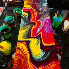 Acrylic Pouring Techniques, Acrylic Pouring Art, Fluid Acrylics, Pour Painting, Art Studies, Rainbow Colors, Art Reference, Photo Art, Artwork