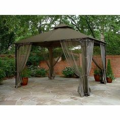 Beau Gazebos And Canopies | Gazebo Outdoor Canopy Tent 10x12 Patio Furniture  Garden Oasis