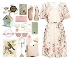 """""""Beautiful birds"""" by danigrll ❤ liked on Polyvore featuring Somette, Lenox, Warehouse, Prada, Aéropostale, Christian Louboutin, Tory Burch, Le Specs, Elsa Peretti and Kate Spade"""