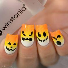 Holloween Nails, Cute Halloween Nails, Halloween Nail Designs, Halloween Halloween, Candy Corn Nails, Cotton Candy Nails, Fancy Nails, Diy Nails, Pretty Nails
