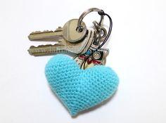 Un cœur au crochet pour vos clés, le tuto