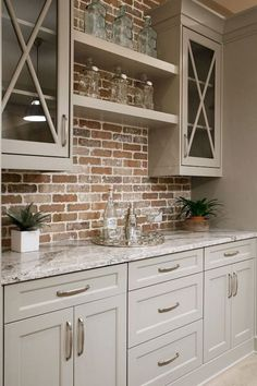 Trendiest Kitchen Backplash Ideas To Inspire You - Looking for unique kitchen backsplash ideas? Find beautiful inspiration, including herringbone and Moroccan tile.and so much more! Let us be your inspiration, as you remodel your kitchen! Farmhouse Kitchen Cabinets, Modern Farmhouse Kitchens, Kitchen Cabinet Design, Kitchen Cabinetry, Farmhouse Ideas, Country Kitchens, Country Farmhouse Kitchen, Rustic Cabinets, Kitchen Sinks