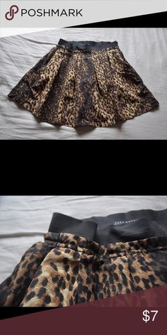 """Zara Women leopard print skirt in size S Zara Women leopard print skirt in size S, perfect for casual occasions and parties. 26"""" waist, a little stretchy, 27"""" could fit just fine.  Length from top to bottom 16"""" Zara Skirts Mini"""