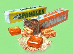 """Spangles - remember these? In 1974 they had fizzy flavours like Orangeade and Lemonade. I loved them! Spangles are a good reminder of a time when, as Roald Dahl once said, """"the sweetshop was the very centre of our lives"""" Old Sweets, Vintage Sweets, Retro Sweets, Vintage Candy, 1970s Childhood, My Childhood Memories, Sweet Memories, Memories Box, Steve Berry"""
