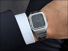 Watchprosite- My rectangular AP Royal Oak Ref. from 1977 was a rare and lucky find earlier this year, clearly forgotten by most and hence not much talked about - Gerald Genta, Ap Royal Oak, Dream Watches, Modern Watches, Audemars Piguet, Retro, Mid Century