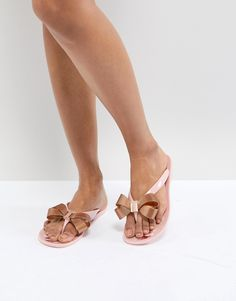 6c15d6b19c69 Shop Ted Baker Suszie Pink Flip Flops at ASOS.