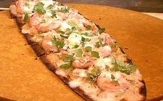 Flatbread with Shrimp and White Bean Hummus / Epicurious