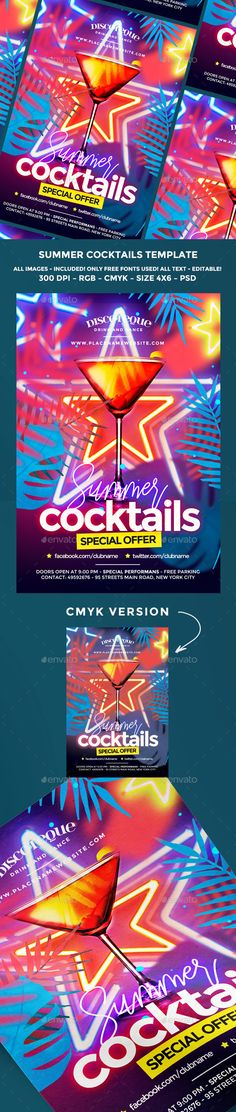 Summer Flyer Template PSD Bundle Awesome Summer Party Flyers - summer flyer template
