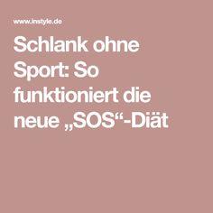 """Schlank ohne Sport: So funktioniert die neue """"SOS""""-Diät"""