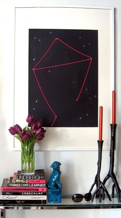 DIY astrology artwork ... seems like a fun idea for kids to learn astronomy and constellations!