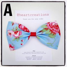 Ladies Children's Girls Hair Bow Accessory by AtHeartCreations