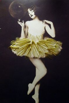 Vintage photographs of dancers embroidered by Jose Romussi