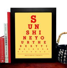 Matchbox Twenty Sunshine Your The Best Time I by EyeSeeYouShop, $8.99