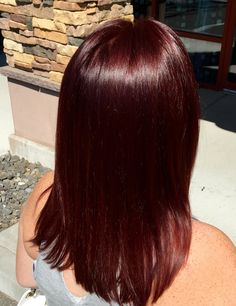 Chocolate Brown With Red Highlights Love My Style Hair Red