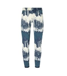 Tory Burch Cropped Frayed-hem Dyed Skinny Jean