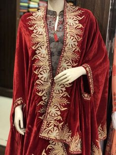 Red Velvet Cape, Royal Kashmir Orni, Shawl, Red Velvet Embroidered Stole, Kashmir Zari Work Shawl in the Scarves & Wraps category was listed for on 20 Jul at by in India Shrug For Dresses, Casual Dresses, Fashion Dresses, Kashmiri Shawls, Velvet Shawl, Mode Abaya, Capes For Women, Ethnic Dress, Embroidery Suits