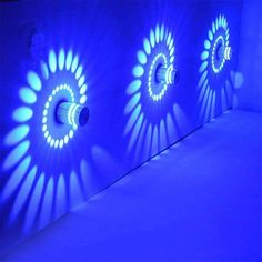 Naladoo Colorful RGB Spiral Hole Wall Lamp Surface Install LED Light Luminaire Lighting Holiday Party Bedroom Living Home Illumination Decor Wall Mounted Lamps, Led Wall Lamp, Led Wall Sconce, Modern Wall Lights, Led Ceiling Lights, Modern Lighting, Ceiling Lamps, Led Flush Mount, Luz Led