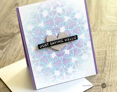 Hi! Today I am sharing a way to get more from your stencils simply by layering. I also am playing along in a blog hop with giveaways.