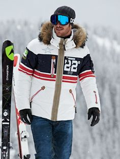 men's fashion /  red, white, and blue ski fashion outfit for men l #mens http://www.99wtf.net/men/mens-accessories/shop-type-shoes/