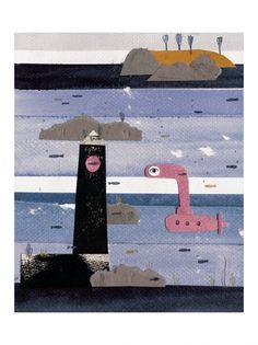 Maria Dek, Submarine Beautiful quality Giclee print, limited edition of 30 with certificate signed by the artist