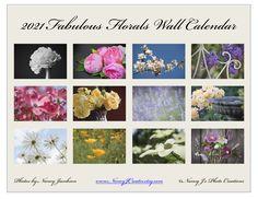 2021 Wall Calendar, Floral Calendar, 2021 Flower Calendar, Botanical Calendar, Roses Peony Lilac Daisy 2021 Garden Calendar, Floral Art Gift