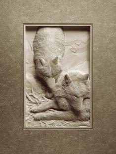 Paper sculpture: สุดยอด!!! งานกระดาษสามมิติ โดย Calvin Nicholls – PORTFOLIOS*NET
