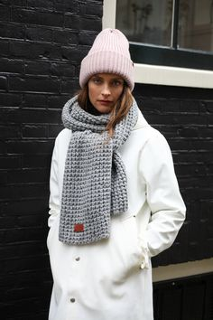 Pink and Light Grey knits BICKLEY + MITCHELL 17/18 collection women's #fashion #style #love #shopping #knit #womenfashion #knitwear #headband #scarf #beanie #gloves #wool #ladies #outfit