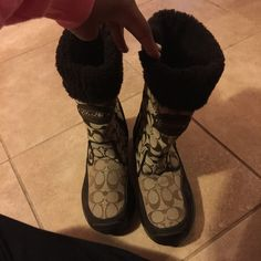 Coach Boots Like new only worn about 3 or 4 times Coach Shoes Winter & Rain Boots