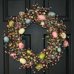 Easter Wreath - Easter Decor - Easter Decoration -  Rustic Egg Wreath. $65.00, via Etsy.