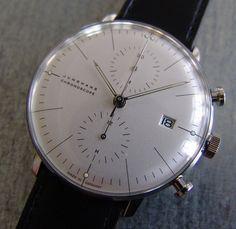 Junghans Max Bill Design Watch Chronoscope White
