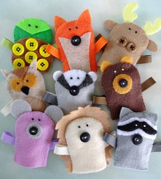 Felt Forest Critter Finger Puppets Sewing by preciouspatterns