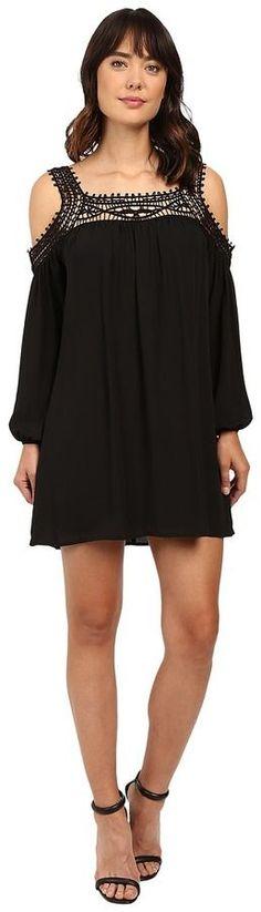 Brigitte Bailey Tillie Crochet Trim Cold Shoulder Dress