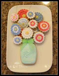 bouquet cookie cutter - Google Search