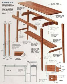 #2953 Floating Top Table Plans - Furniture Plans