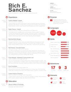 Simple U0026 Clean Infographic / Timeline Resume Design For Digital Marketing,  Project Management Or Technology