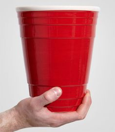 Get serious about party time with the giant red party cup. The traditional sixteen ounce has now been super-sized for the professional party-er.