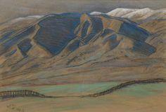 Maynard Dixon (1875-1946) Rolling foothills, 1939 12 x 17in