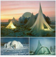 Heinz Isler ice structures.