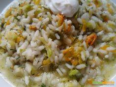 Risotto ai fiori di zucca  #ricette #food #recipes