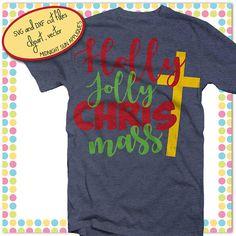 Holly jolly ChrisTmas svgcut filechristmas svgholly jolly