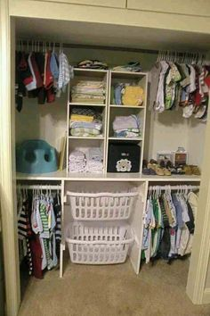 Closet Organization for baby or toddler