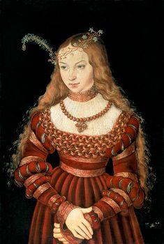 Lucas Cranach the Elder - Princess Sibylle of Cleve as a bride