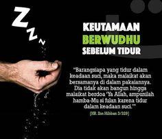 keutamaan berwudhu sebelum tidur
