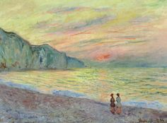 Claude Monet - Sunset at Pourville 1882 at The Kreeger Art Museum Washington DC
