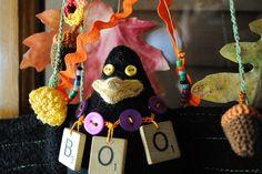 Halloween Crow Decor by BobbiLewin on Etsy, $70.00