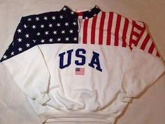 Vintage ESY Sport Wear Olympic Jacket Sweatshirt Made In USA XL
