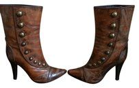 Patrizia Pepe Victorian Buttons Steampunk Brown Boots