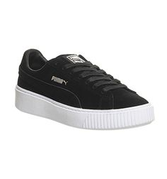 43f1badcca92 Puma Suede Platform Black White - Hers trainers Office Shoes